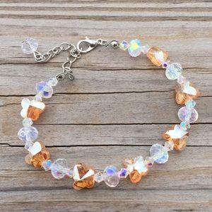 Austrian Crystal Orange Butterfly bracelet
